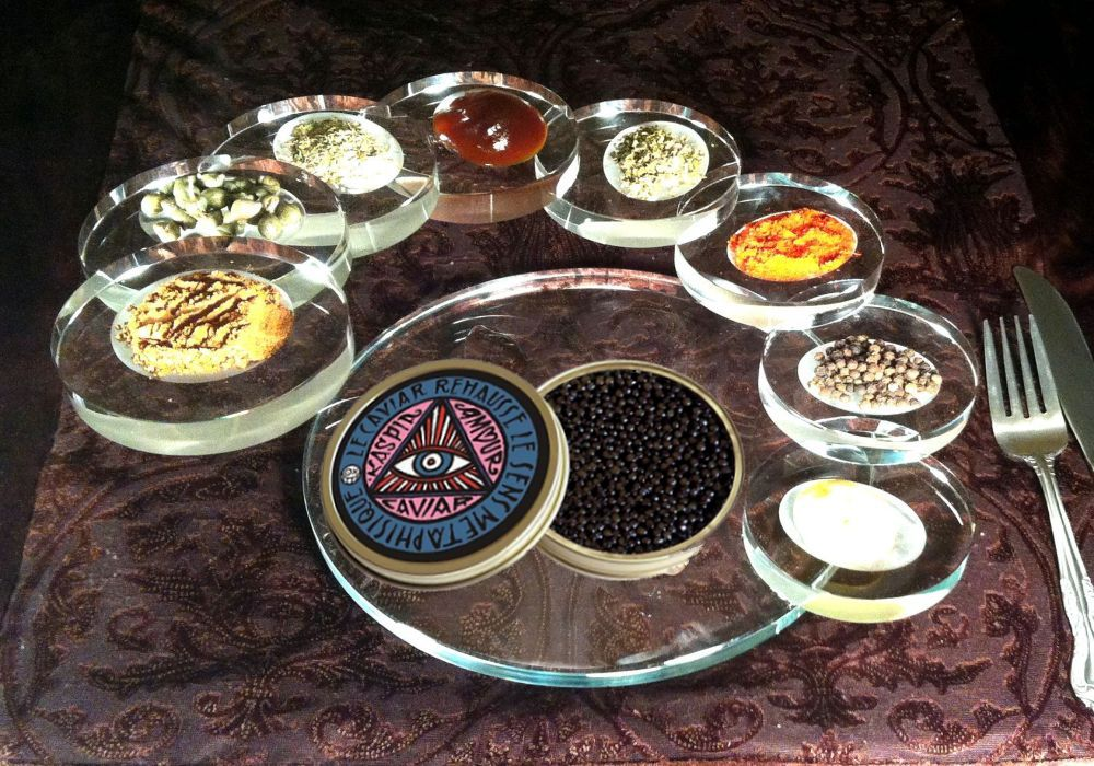 Caviar Serving Staircases For Sophisticated Gourmet